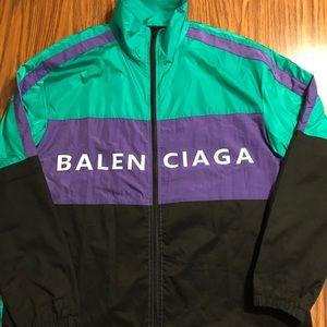 Balenciaga men's Windbreaker sz L